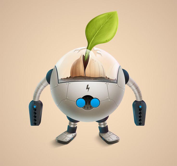Cartoon Characters As Robots : Robot cartoon character