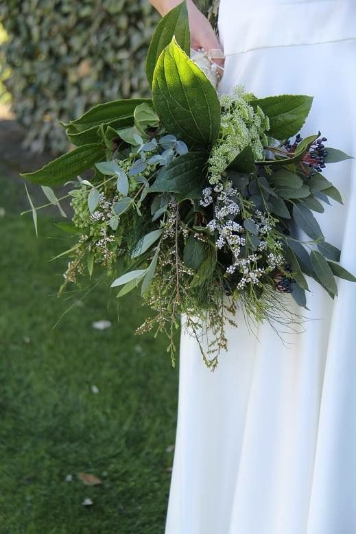 Foliage bouquet with delicate flowers. http://wanakaweddingflowers.co.nz/gallery/bouquets/