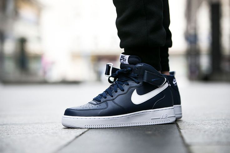 nike air force 1 mid 07 midnight navy 315123 407. Black Bedroom Furniture Sets. Home Design Ideas