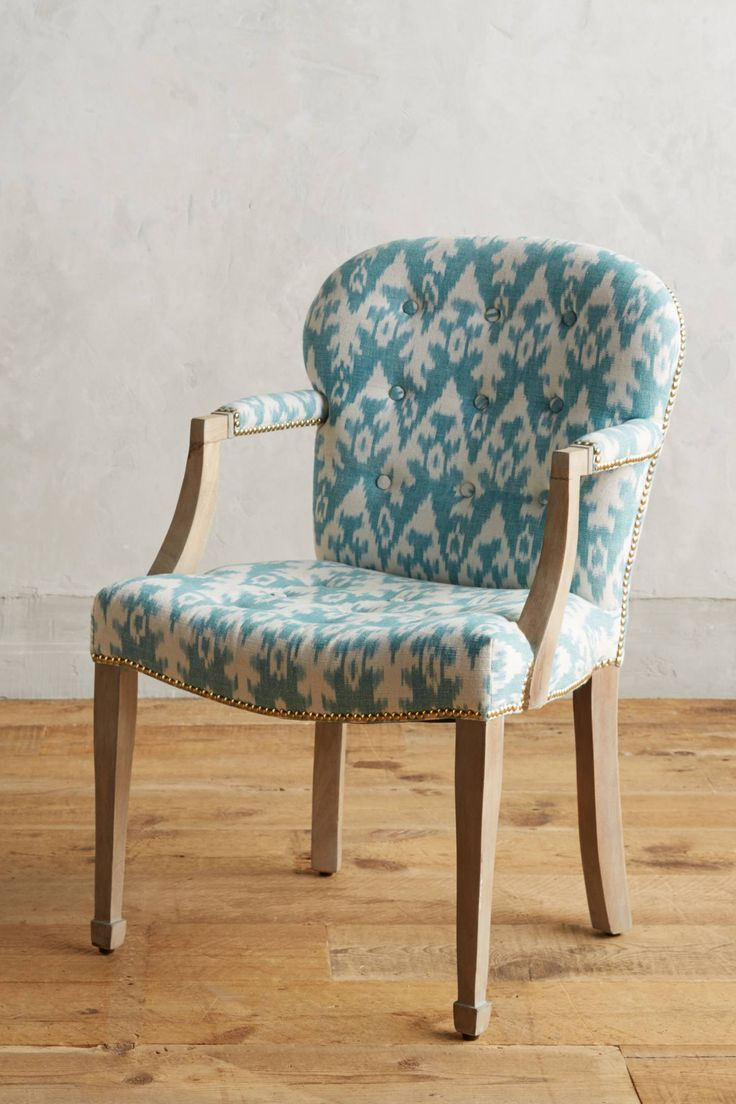 Turquoise ikat chair - Ikat Wallasey Armchair