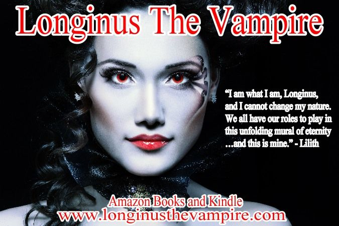 "Longinus The Vampire  5 Stars  ""A definite read for ""humans"" who crave vampire lore.""  Amazon books and Kindle  www.longinusthevampire.com  #vampires #demons #horror #sexy"