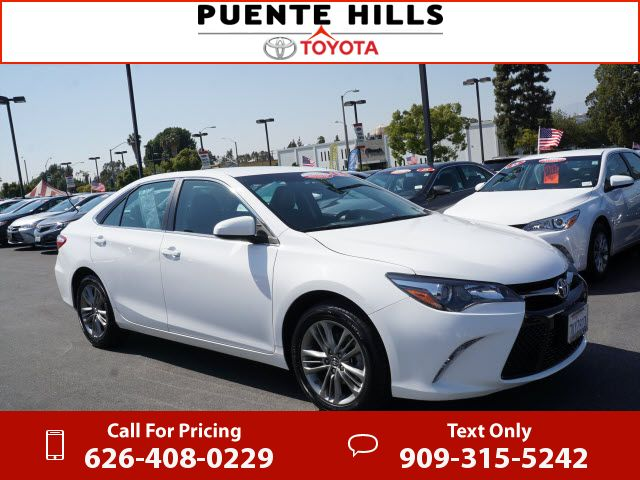 2015 Toyota Camry SE White 21k miles Call for Price 21197 miles 626-408-0229 Transmission: Automatic #Toyota #Camry #used #cars #PuenteHillsToyota #CityofIndustry #CA #tapcars