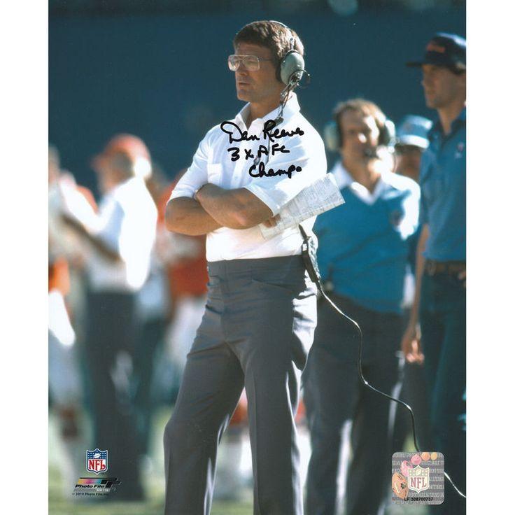 """Dan Reeves Denver Broncos Fanatics Authentic Autographed 8"""" x 10"""" Coaching Photograph with 3x AFC Champs Inscription"""