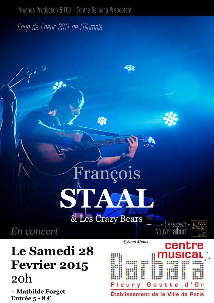Concert au centre Barbara-FGO le 28 Fev. 2015. Paris 18. http://www.fgo-barbara.fr