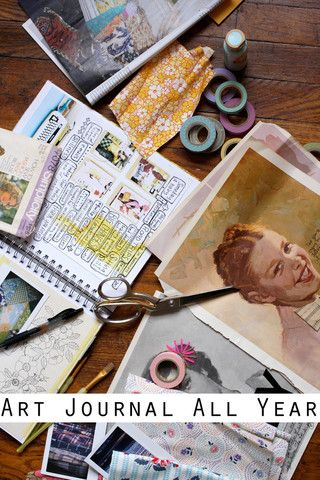 52 session art journaling course