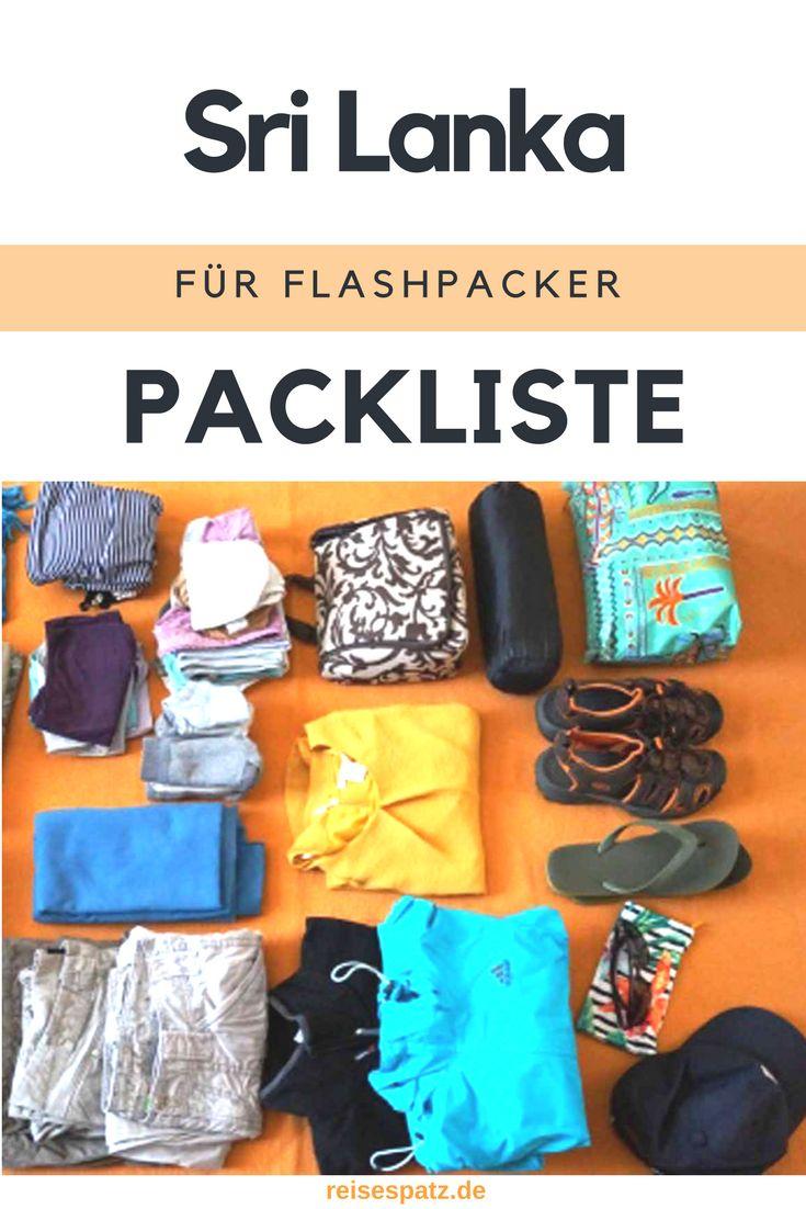 Sri Lanka Packliste für Flashpacker #srilanka #packliste