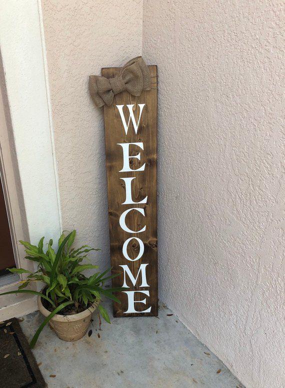 Front Door Decor Front Door Sign Welcome Signs Front Porch Etsy Wooden Welcome Signs Front Door Signs Front Door Decor
