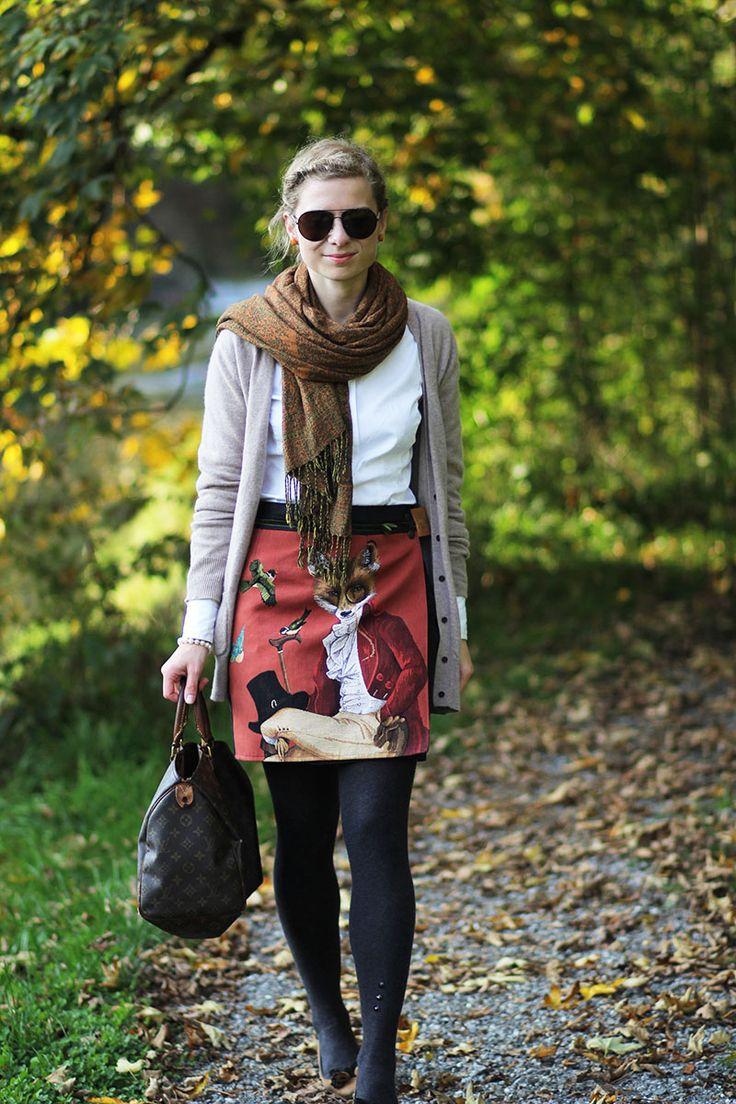 Outfitpost: Mit dem Fuchs-Rock im Goldenen Herbst | Lady-Blog #denordecce #autumn #preppy