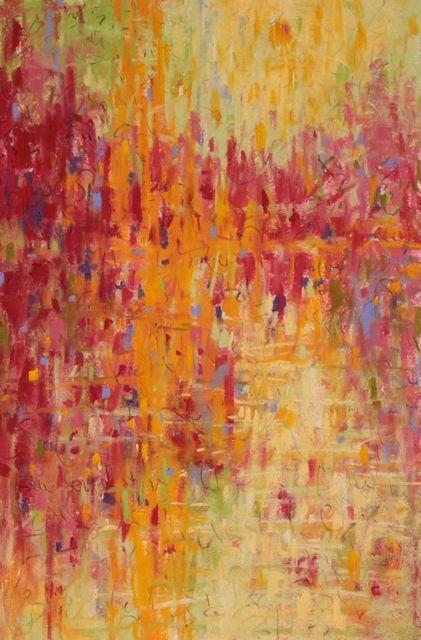 Joan Mitchell - Landscape Tapestry, pastel on Wallis paper, 18x12 in
