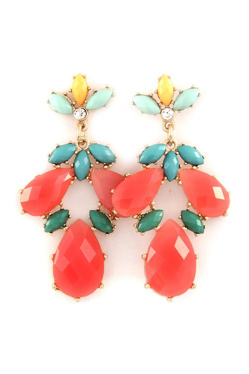 Lani Chandelier Earrings in Poppy on Emma Stine Limited