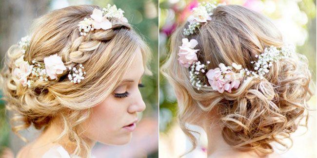 capelli semiraccolti da sposa 2015 acconciatura con treccia