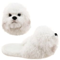 Bichon Frise Fuzzy Slippers for Christmas   Bichon Finder