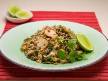 A quick and tasty recipe for chow mein with egg fried rice