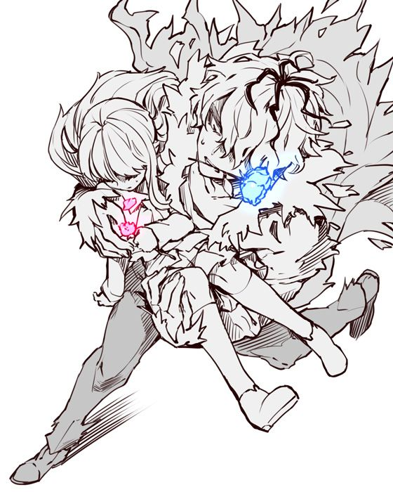 Garry carrying Ib while she's hurt. I loved the brother/sister relationship they have!