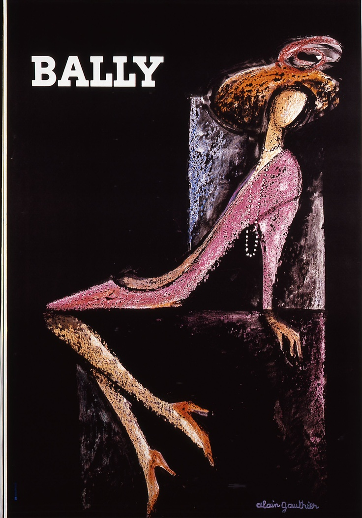 a French poster about Bally Pumps