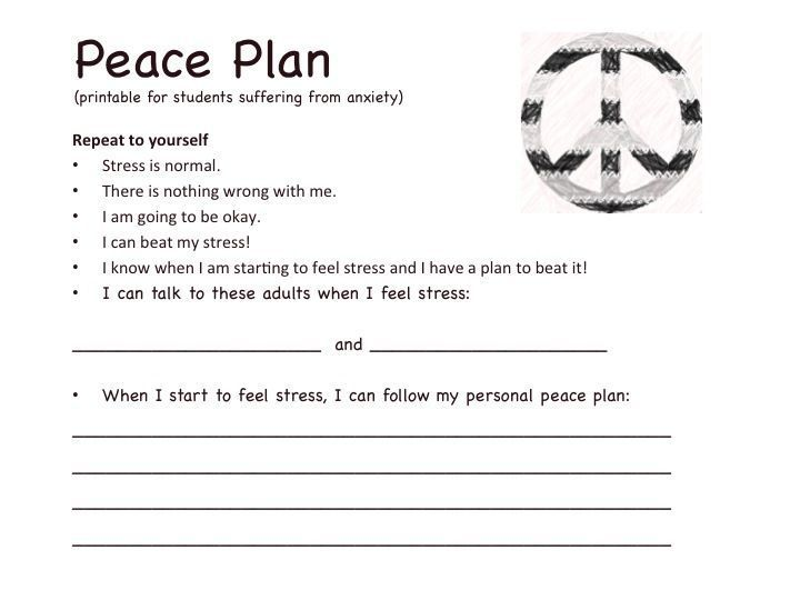 """The """"Peace Pass Program is a Classroom Anxiety Management System for counselors or teachers to use with students suffering with anxiety or panic. Give your students the peace of mind in knowing that if they begin to experience symptoms of panic or anxiet"""