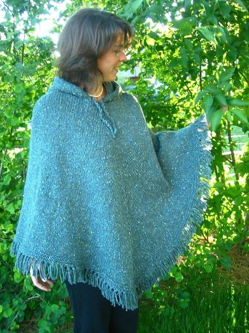 Easy Poncho Knitting Pattern Free : Knitting pure and simple diane soucy women s poncho top