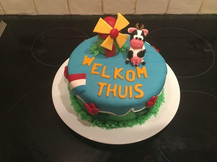 Welkom thuis taart in Nederlandse stijl