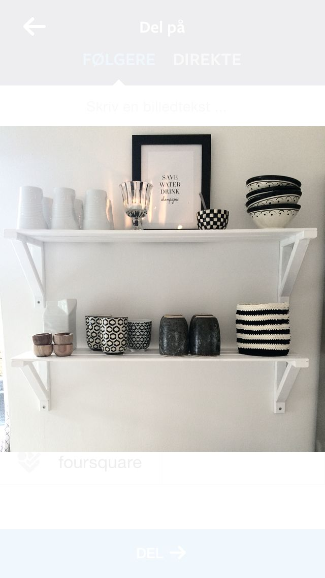 Black and white in the kitchen