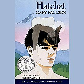 "Another must-listen from my #AudibleApp: ""Hatchet"" by Gary Paulsen, narrated by Peter Coyote."