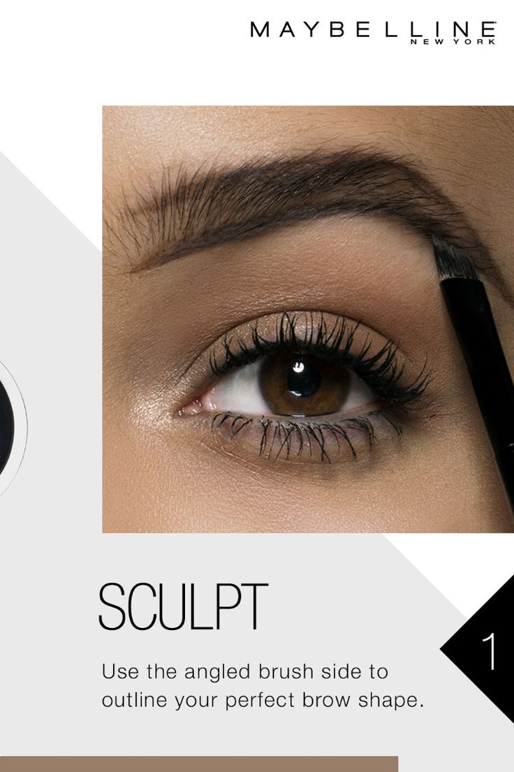 Get sculpted natural looking brows in 3 easy steps with