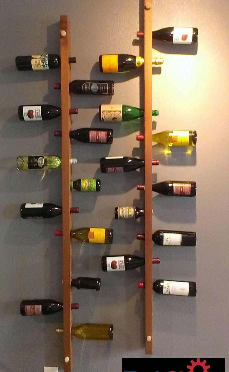 Wall Mounted Vertical Wood Wine Rack Wine Rack Design