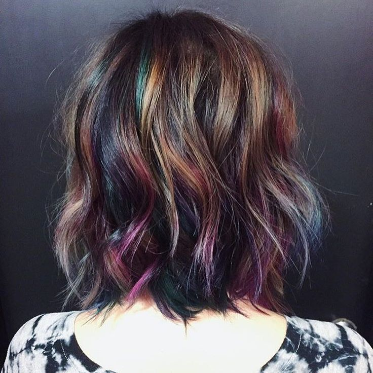 """""""Mesmerized by this oil slick color by @hairbykotay. Use #modernsalon and show us YOUR color creations!"""""""