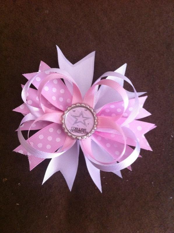 Pink Dallas Cowboys Bow