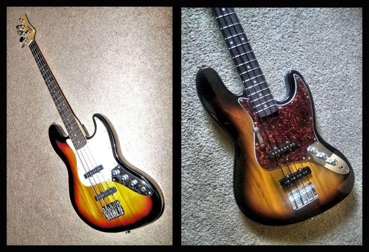 A glarry fan did a few small upgrades to glarry jazz bass