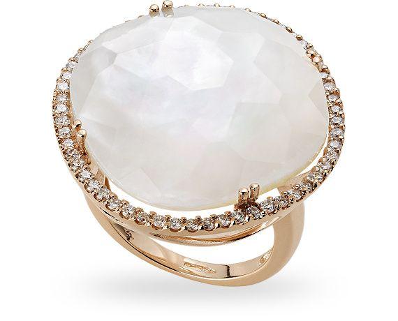 ZGAN0810RRMAL - Anello in oro rose 18 kt. con 0.58 ct. di diamante