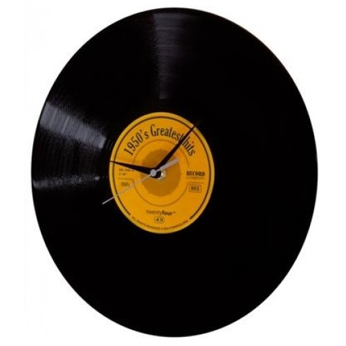 vinyl time clock simply strong retro look / gramo deska s ručičkami