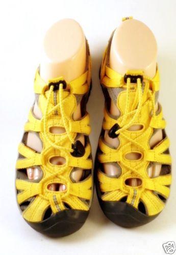 5641f7b1fe0f Women s Keen Outdoor Hiking Waterproof Yellow Gray Sport Sandals Shoes Size  8