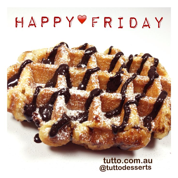 Happy Friday! How about Belgium Waffle with Nutella sauce to treat ourself. #friday #tuttodesserts #tutto #carlton #frozenyogurt #instalike #instafood #instadaily #swag #nutella #organicyogurt #pressedjuice #melbournefood #melbournenow #waffle