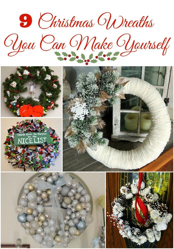 9 Beautiful Christmas Wreaths You Can Make Yourself Easy Holiday Diy