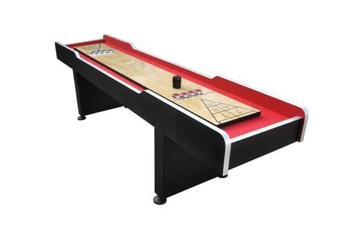 9' x 2' Recreational Red and Black Shuffleboard Game Table