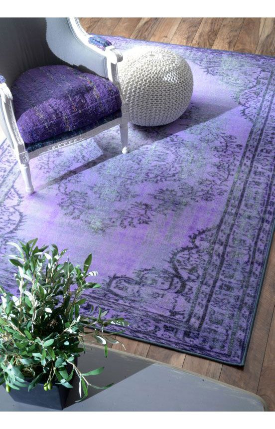 Rugs USA Winsdor Overdyed Grove Purple Rug. Rugs USA Labor Day Sale up to 80% Off! Area rug, rug, carpet, design, style, home decor, interior design, pattern, trends, home, statement, fall, cozy, sale, discount, interiors, house, free shipping, purple.