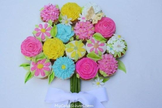 bouquet of cupcakes tutorial