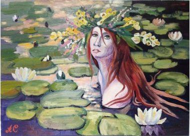 Светлана Афанасьева. Русалка | Фэнтези девушка | Купить картину у художника