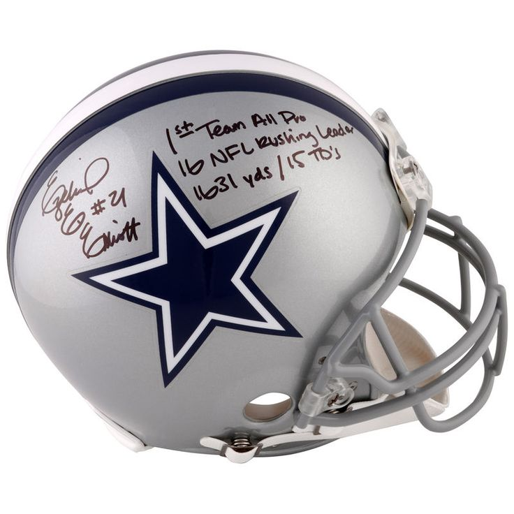 Ezekiel Elliott Dallas Cowboys Fanatics Authentic Autographed Riddell Pro-Line Helmet with 2016 Season Stats Inscription - Limited Edition of 16