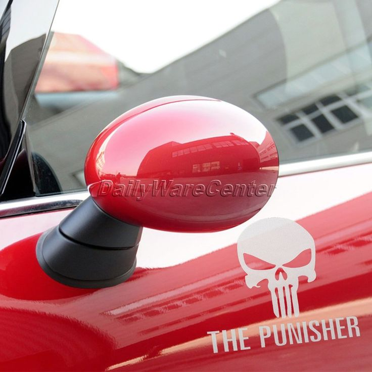 Funny Decal Car Styling Auto Vinyl Punisher Skull Stickers Car Window Stickers Covers Ghost Rider Emblem Grill Motorbie Decorate