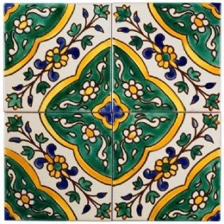 Tiles Cuisine: Mediterranean tile Tile mural Moorish tiles ...