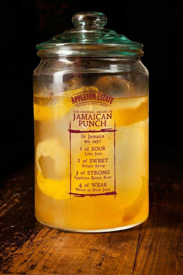 1 of sour, 2 of sweet, 3 of strong, 4 of weak... Jamaican rumpunch!!!