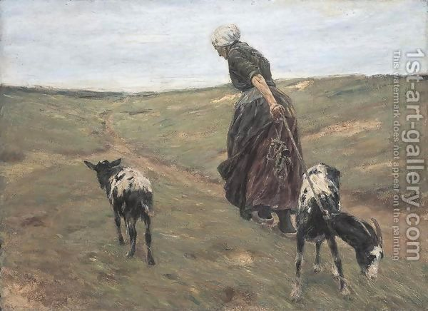 Woman-With-Goats-In-The-Dunes