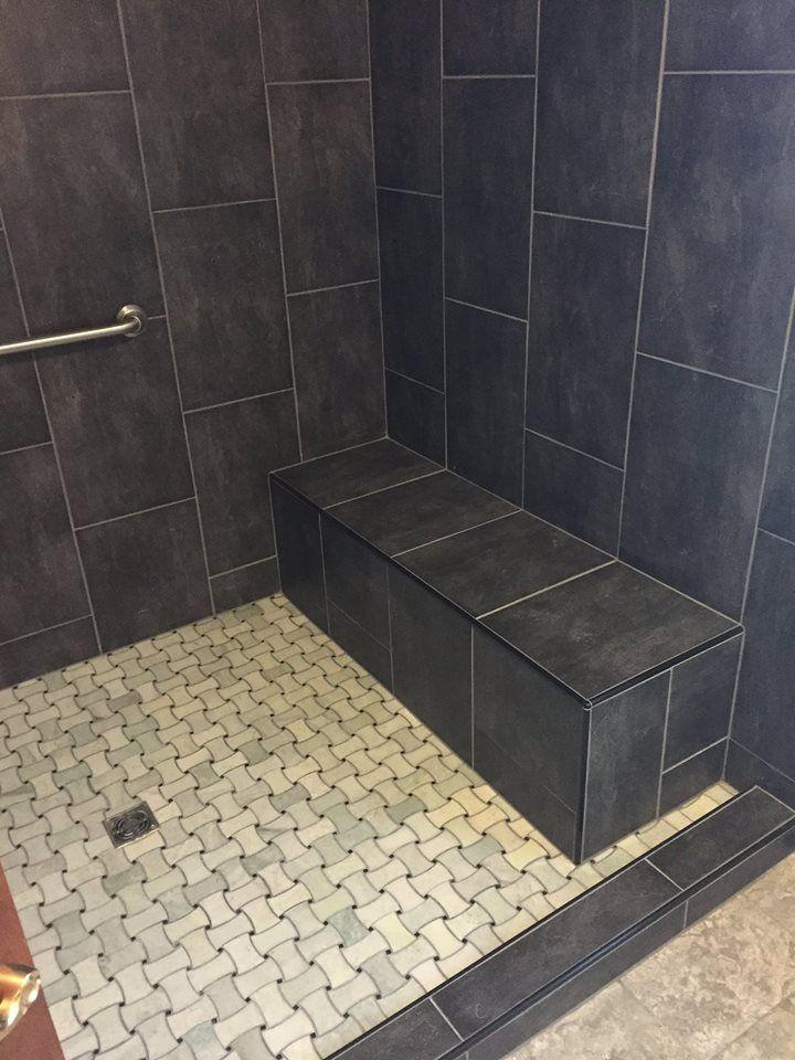 57 best master bath remodels images on pinterest master for Large format glass tile