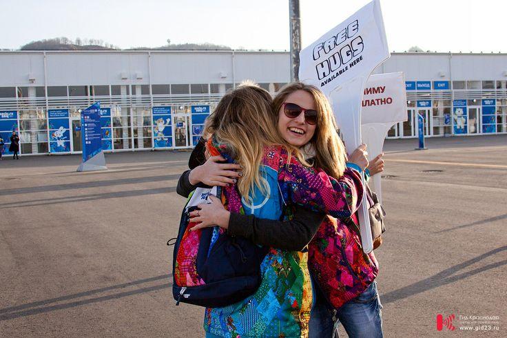 Sochi 2014 Free hugs. Бесплатные обнимашки в Олимпийском парке