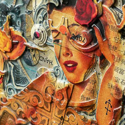 Handiedan é um artista holandês que cria incríveis peças em alto relevo com inúmeras camadas, recortadas a mão, inspirado por arte vitoriana, pin-ups e tatuagem. Confira!