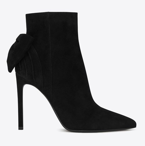 Saint Laurent  Bottines Skinny en veau velours