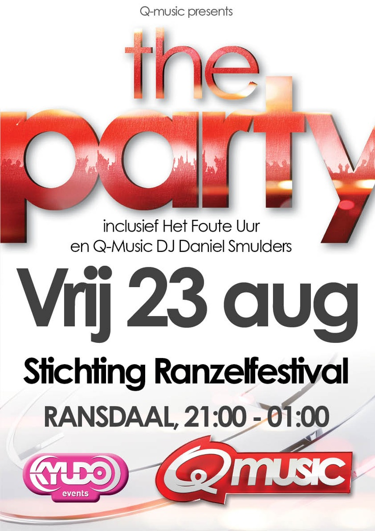 39 best images about q music presents the party posters for Stichting timon amsterdam