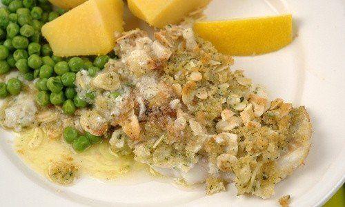 Mandelfisk fisk med mandel