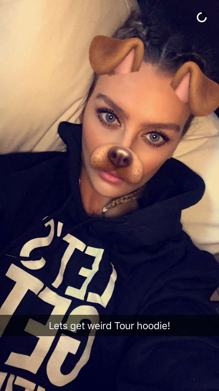On Perrie's Snapchat